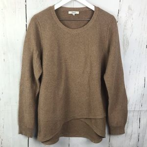 Madewell Feature Pullover Crossover Sweater